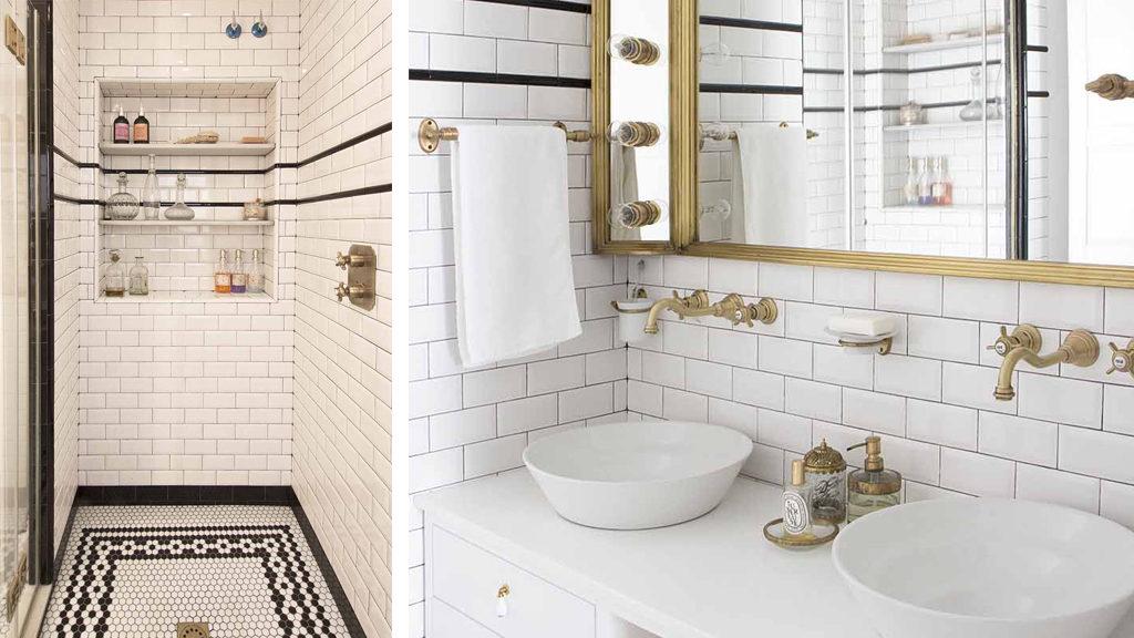 mosaico en el baño