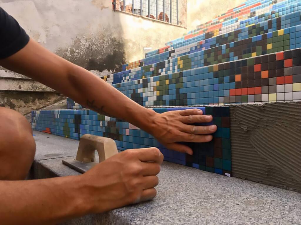 ¿Cómo colocar mosaico vítreo?